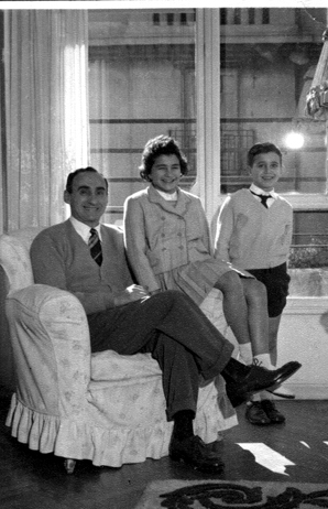 Benito with Father and Sister-Buenos Aires 1957